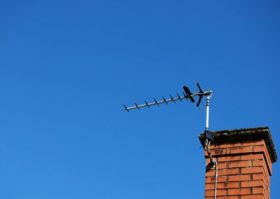 TV aerial on roof